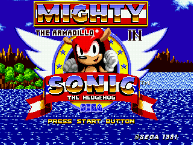 Jogo Mighty the Armadillo in Sonic 1 (Knuckles Chaotix Sprites) Online Gratis