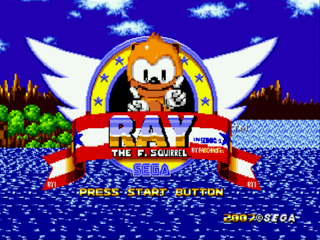 Ray the Flying Squirrel in Sonic the Hedgehog