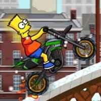 Bart Simpsons Moto na Neve