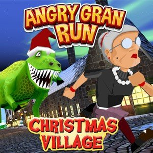 Jogo Angry Gran Run Xmas Village WebGL Online Gratis