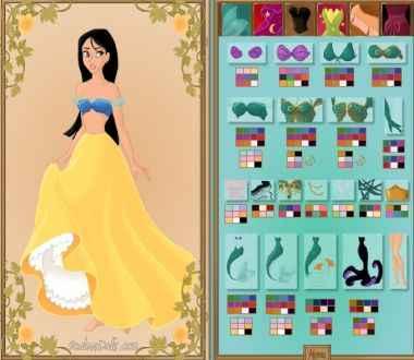 Criação de princesas da Disney