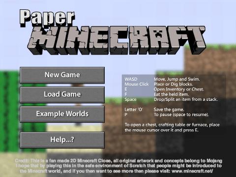 Paper Minecraft v11.3 (Minecraft 2D)