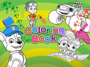 Jogo Nick Jr Coloring Book Online Gratis