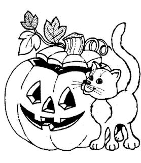 Desenhos de Halloween para Colorir, Pintar, Imprimir