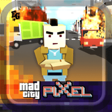 Jogo Pixel's Edition Mad City Crime Online Gratis