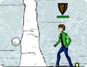 Jogo Ben 10 Guerra de Bolas de Neve Online Gratis
