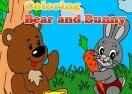 Jogo Coloring Bear and Bunny Online Gratis