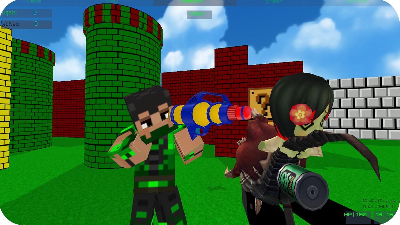 Jogo PAINTBALL GUN PIXEL 3D MULTIPLAYER Online Gratis