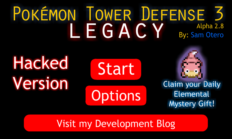 Jogo Pokemon Tower Defense 3: Legacy Hacked Online Gratis