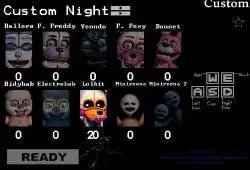 Jogo FNAF Custom Night Online Gratis