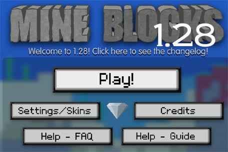 Jogo Mine blocks 1.28 Online Gratis