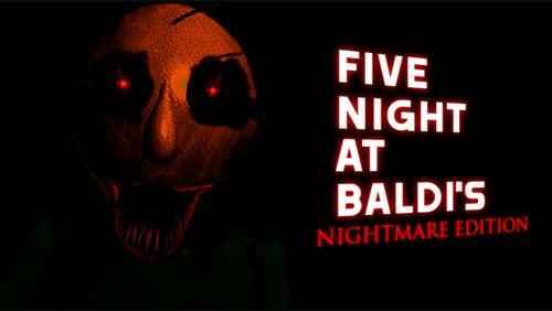 Jogo Five Nights At Baldi's Nightmare Edition (OFFICIAL) Online Gratis