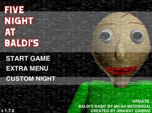 Jogo FIVE NIGHT AT BALDI'S V1.7.8 Online Gratis