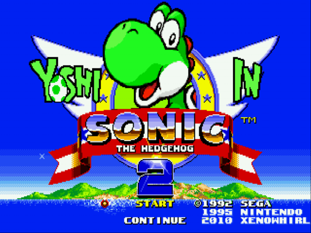 Yoshi in Sonic The Hedgehog 2