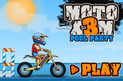 Jogo Moto X3M Pool Party Online Gratis