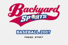 Backyard Sports – Baseball 2007