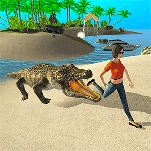 Wild Crocodile Attack Sim 2019