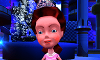 Vestir em 3D da Princesa