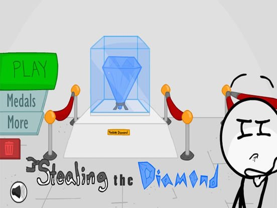 Jogo Stealing the Diamond Online Gratis