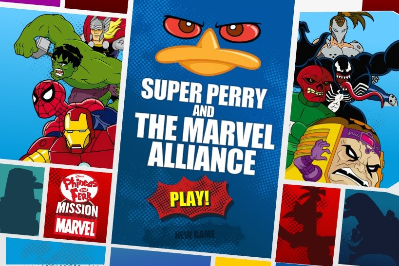 Jogo Super Perry and the Marvel Alliance Online Gratis