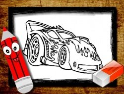 Back To School Car Coloring Book