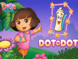 Dora The explorer Dot to Dot