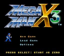Mega Man X3 Zero Project v4.0