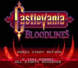 Jogo Castlevania – Bloodlines GEN Online Gratis