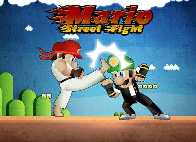 Street Fighting Mario