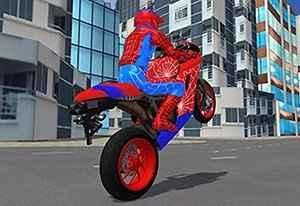 Jogo Hero Stunt Spider Bike Simulator 3D Online Gratis