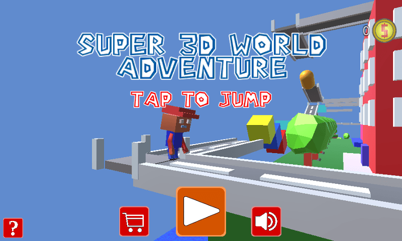Jogo Super 3D World Adventure Online Gratis