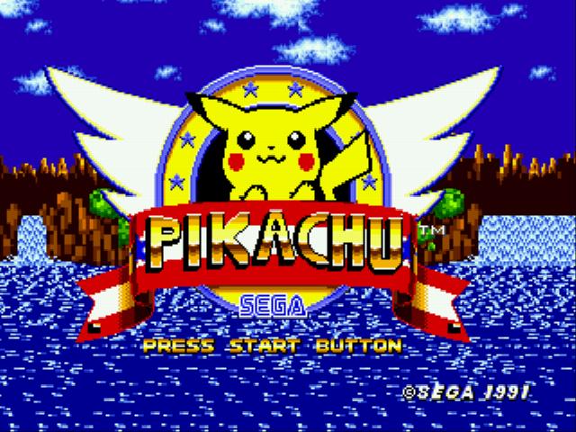 Pikachu in Sonic 1 (Beta)