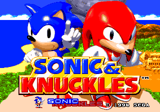 Jogo Sonic & Knuckles + Sonic the Hedgehog 2 (World) Long Version Online Gratis
