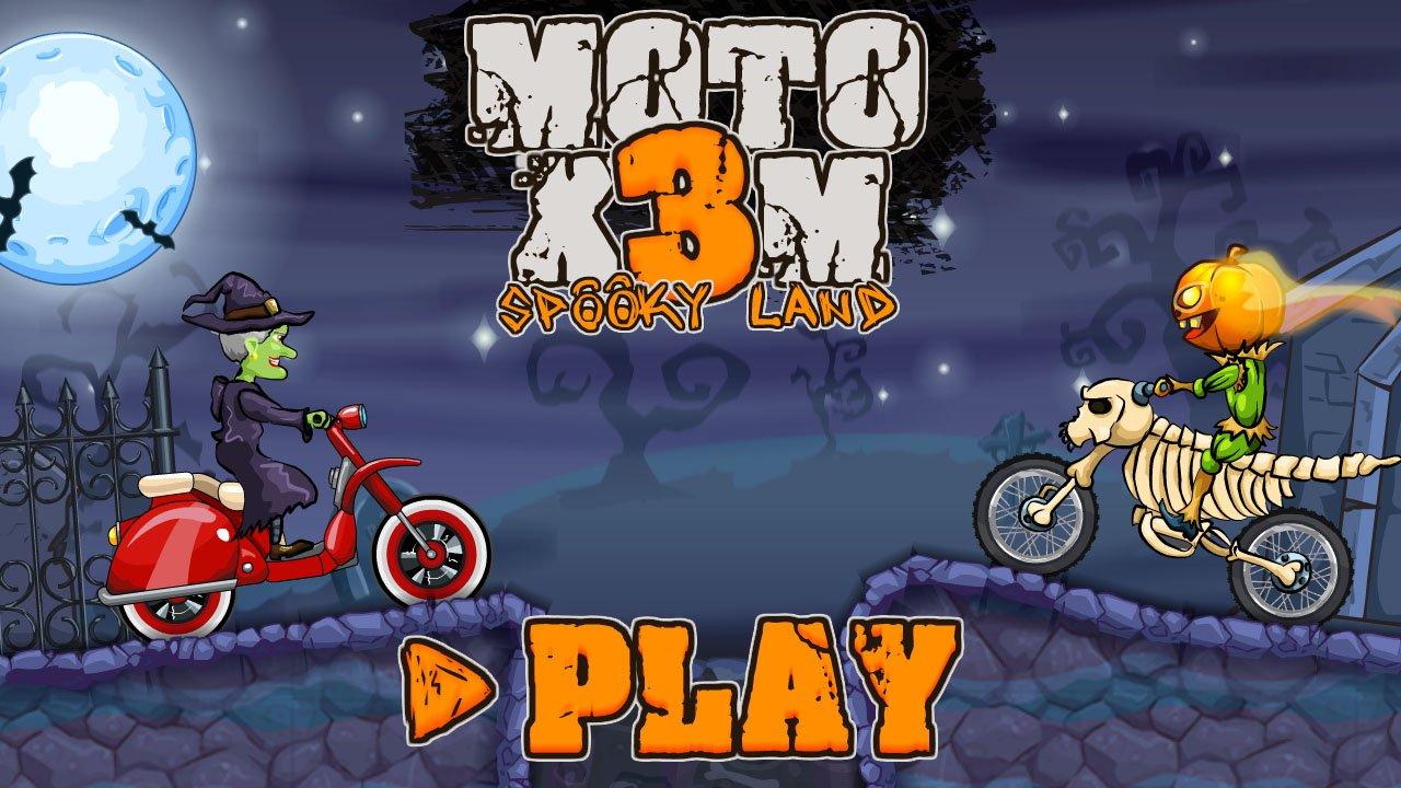 Jogo MOTO X3M SPOOKY LAND Online Gratis