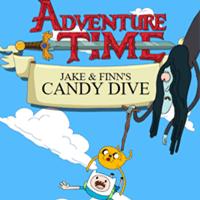 Jogar Adventure Time Candy Dive Gratis Online