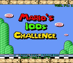 Marios 100s Challenge