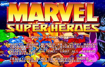 Jogar Marvel Super Heroes ( SS ) Gratis Online