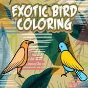 Colorir Pássaros Exóticos