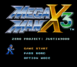 Mega Man X3 – Zero Project (Ver. 1.0) SNES