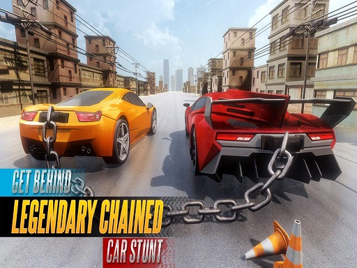 Jogar CHAINED CAR STUNTS RACE MEGA RAMP GT RACING Gratis Online