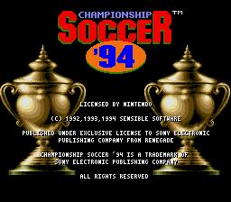 Jogar Championship Soccer '94 – SNES Gratis Online