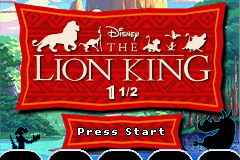 The Lion King 1 1-2 – GBA
