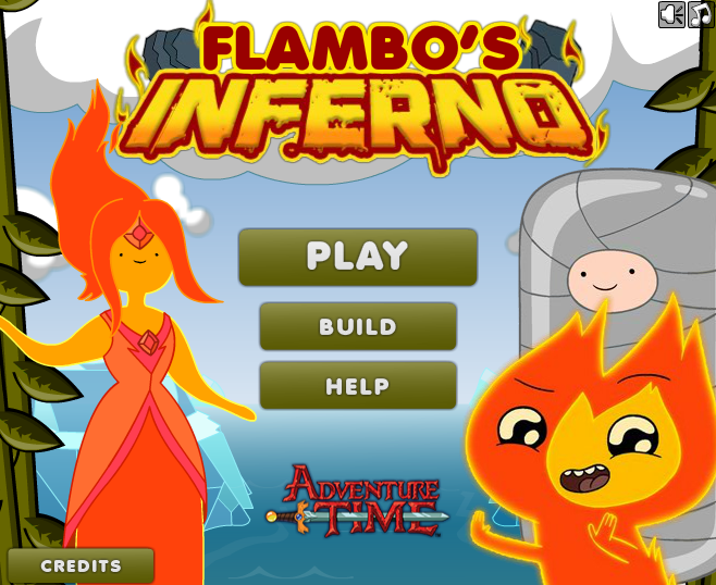 Play Adventure Time: Flambos inferno