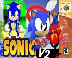 Sonic in Super Mario 64 V2
