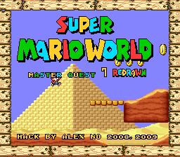 Super Mario World – Master Quest 7 Redrawn