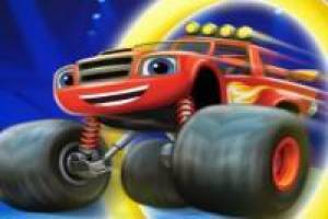 Blaze and the Monster Machines: construa rampas de corrida