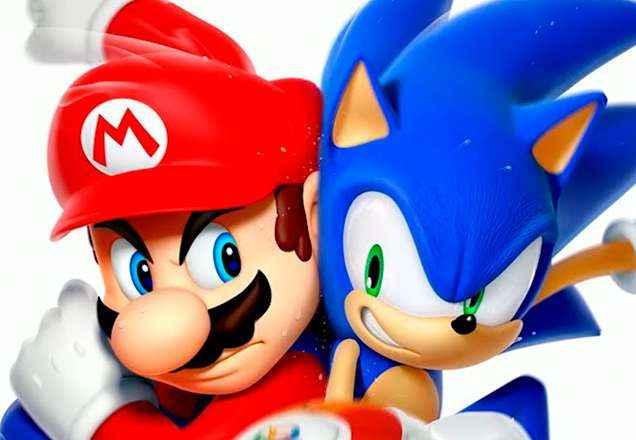 Mario no mundo do Sonic