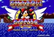 Shadow the Hedgehog in Sonic the Hedgehog
