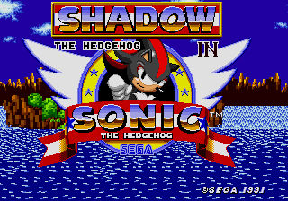 Shadow the Hedgehog in Sonic 1