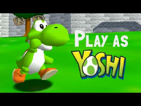 Super Mario 64 – Yoshi Playable